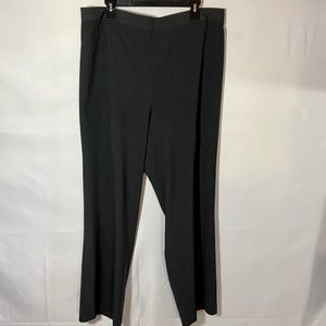 Catherines Charcoal Gray Pull On Dress Pant 1X